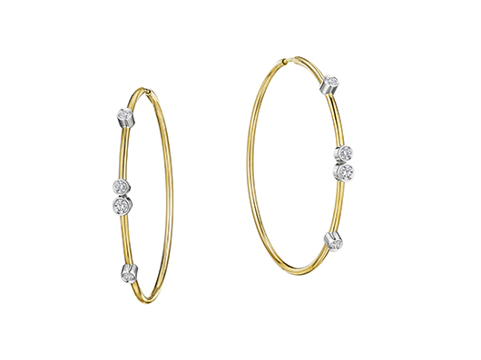 Earrings in 18k gold with diamonds from A. Link's Flex Forte collection