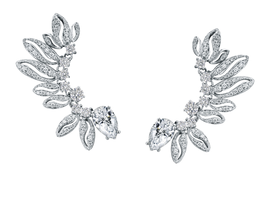 Diamond ear cuffs from Forevermark by Premier Gem worn by Taylor Schilling to the 2014 Emmys