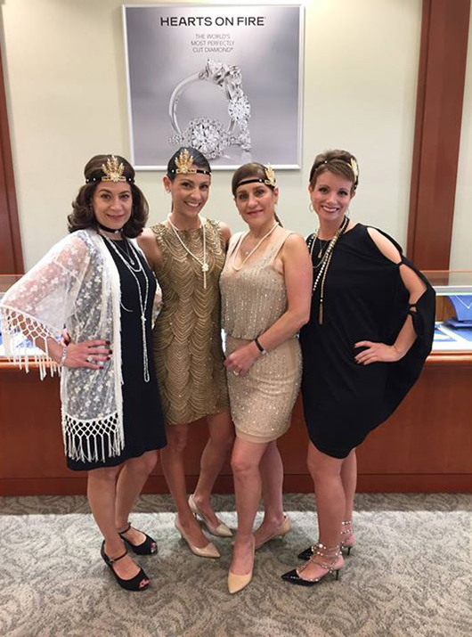 Staff at Frassinato Jewelers as flappers