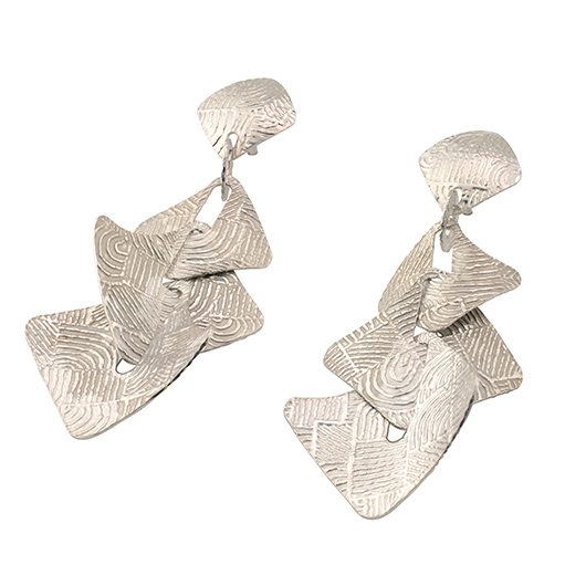 Frederic Duclos silver earrings
