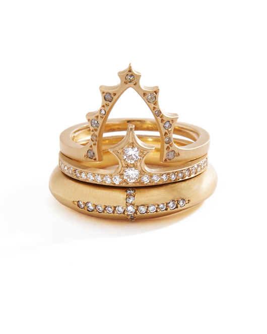 Michelle Fantaci's new 14k gold Chess Queen collection