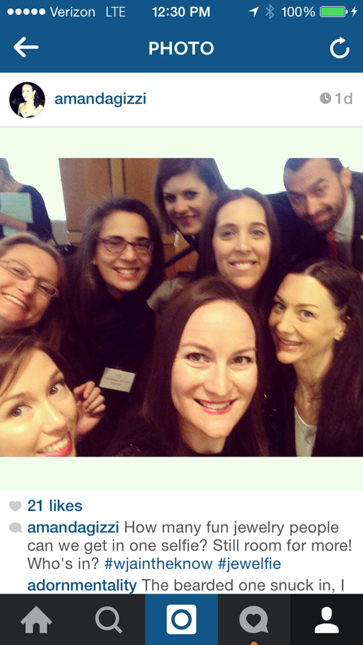 Instagram shot from JA's Amanda Gizzi of some In The Know attendees yesterday