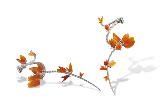 Gregore Morin fire opal and diamond earrings took the Editor's Choice award