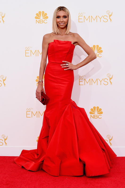 Guliana Rancic in Forevermark diamond jewelry at the 2014 Emmys