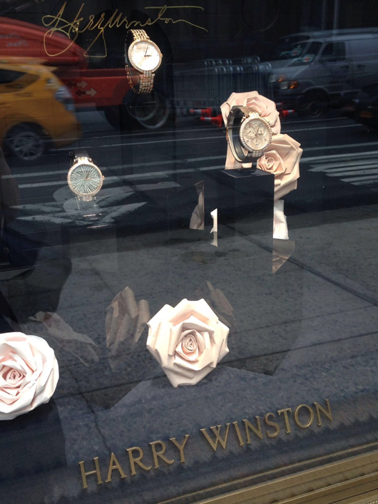 Harry Winston window display with watches