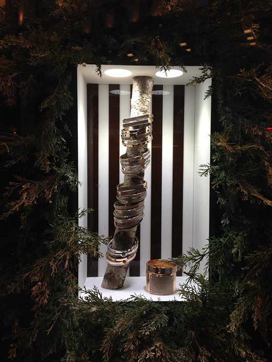 Window display at Henri Bendel in New York City