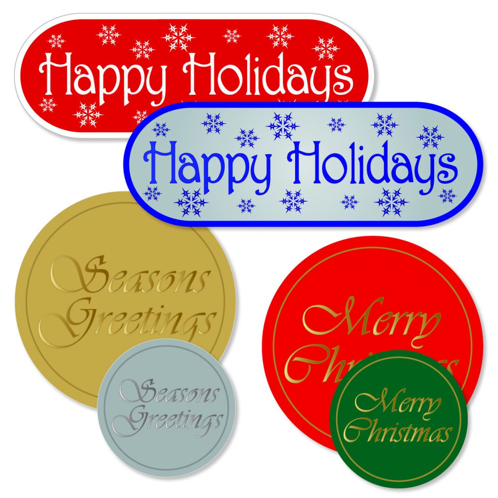 Arch Crown holiday series labels