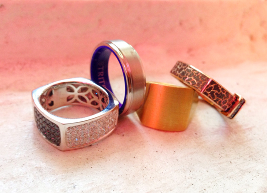 Men's bands from Shy Creation, Triton, Editions de Re, and Alex Soldier
