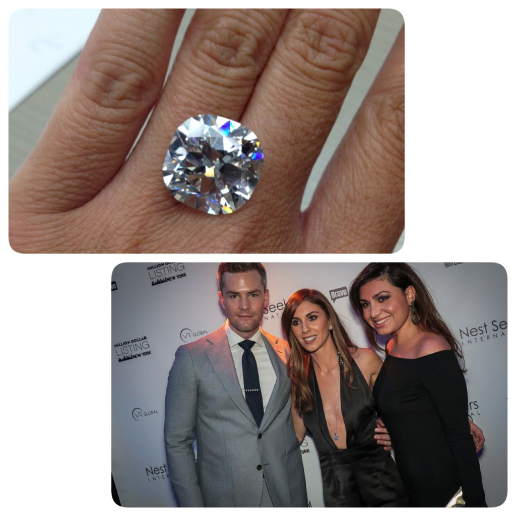 Yehuda Diamond one million dollar 18.18 ct. diamond, Million Dollar Listings premiere party