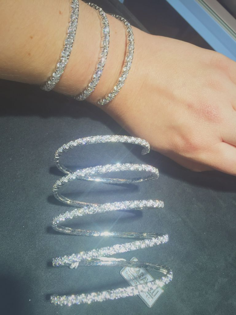 Garavelli Coil collection diamond bracelets