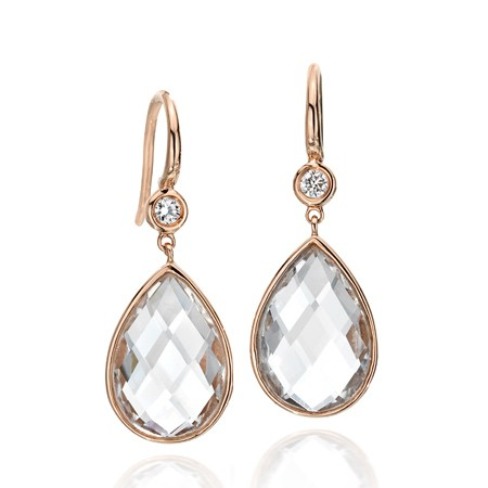 Ivanka Trump rock crystal earrings