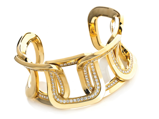 Diana 18k yellow gold link bracelet with 4.5 cts. t.w. diamonds; $37,080; Chimento, Miami; 305-372-8025; www.chimento.it