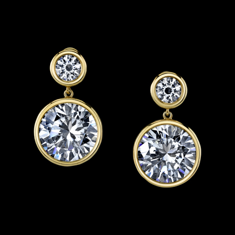 Earrings in gold with diamonds by Robert Procop