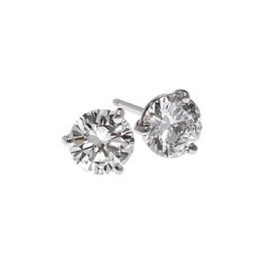 Stud earrings with diamonds by Jacob & Co.
