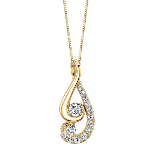 Pendant necklace in 14k gold with diamonds from Proud Mom by Juno Lucina–Jaime King Designs