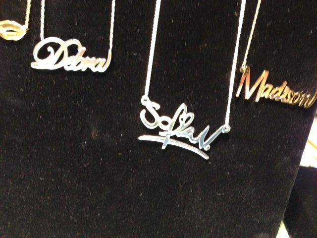Name necklaces by Jane Basch