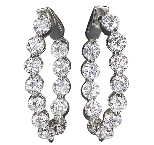 Susy earrings with diamonds from Jye