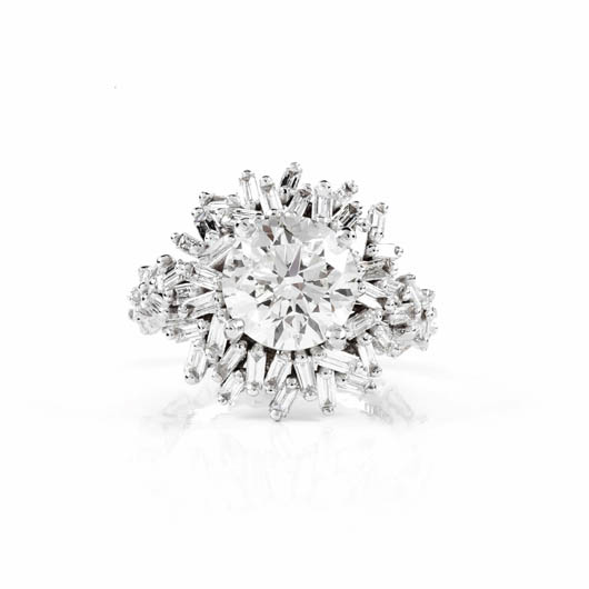 New Devoted collection engagement rings with baguette-cut diamonds from Suzanne Kalan