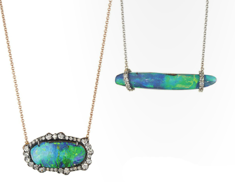 KImberly McDonald gold, opal, and diamond necklaces