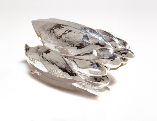 One-of-a-kind fabricated Repoussé Genie cuff in silver, $4,290; Lisa Kim Fine Jewelry