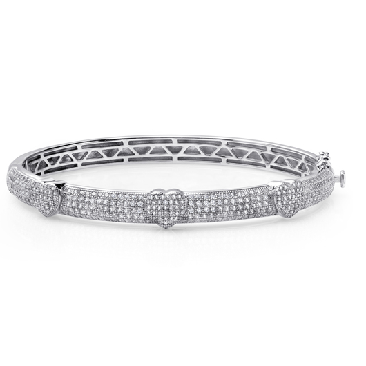 Lafonn silver bracelet with simulated diamonds
