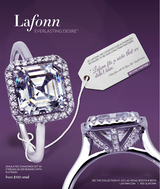 Lafonn Asscher cut collection debut 2015