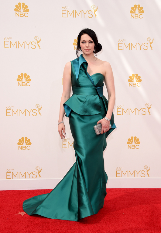 Laura Prepon in Simon G. jewelry at the 2014 Emmys