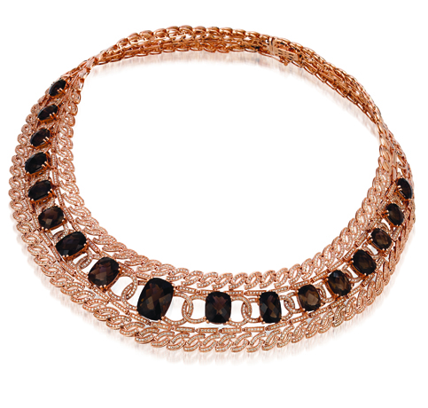 Le Vian gold and gemstone collar necklace