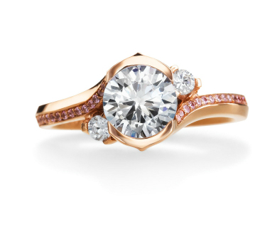 Engagement ring from Maevona's Lily collection