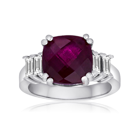 Rubellite and diamond ring by Lisa Nik