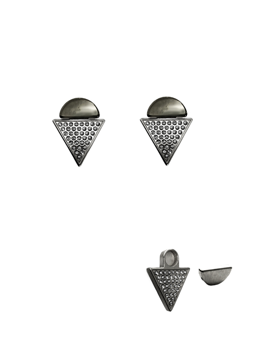 Paige Novick black-rhodium-plated magnetic brass earrings and jackets