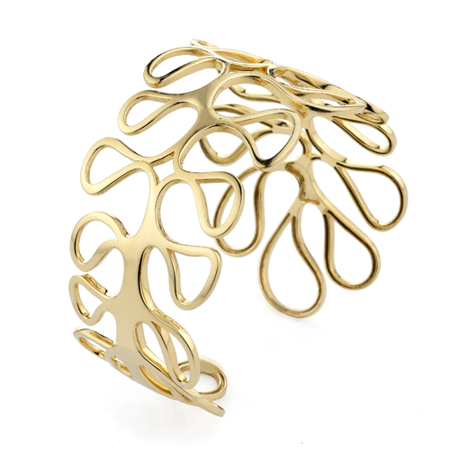 Cuff in 18k gold by Miseno