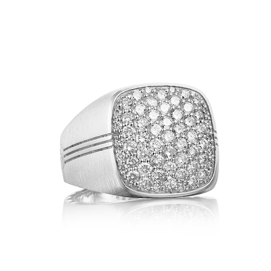 Ring in silver with diamonds from Tacori for men