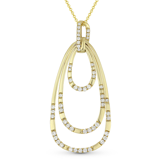 Madison L oval hoops pendant necklace