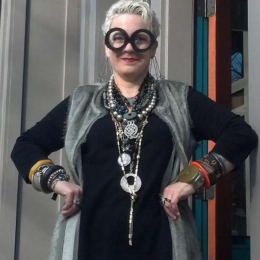 Martha Le Van or Mora Designer Jewelery in Asheville, N.C., as Iris Apfel