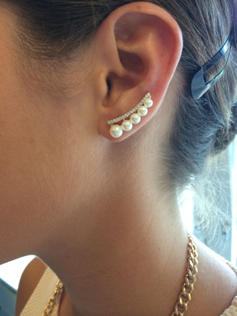 Emily ear cuffs from Mastoloni on the ear