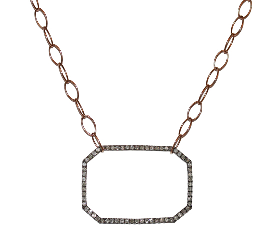 Meredith Marks Tia pendant necklace in 14k gold with diamonds