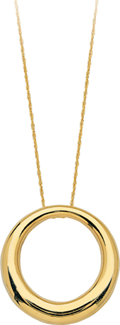 Midas Chain 14k gold circle pendant