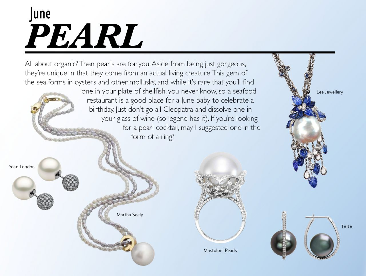 special edition June Birthstone pearls