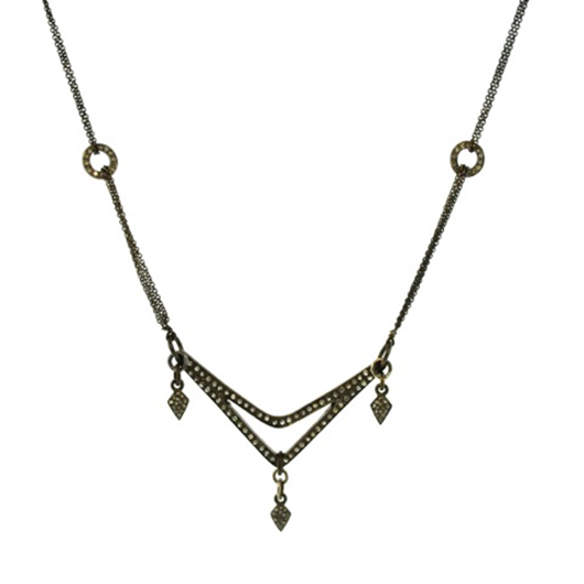 Mabel Chong necklace in silver with diamonds