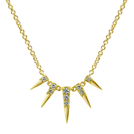 Gabriel & Co.'s 14k gold and diamond Editor's necklace