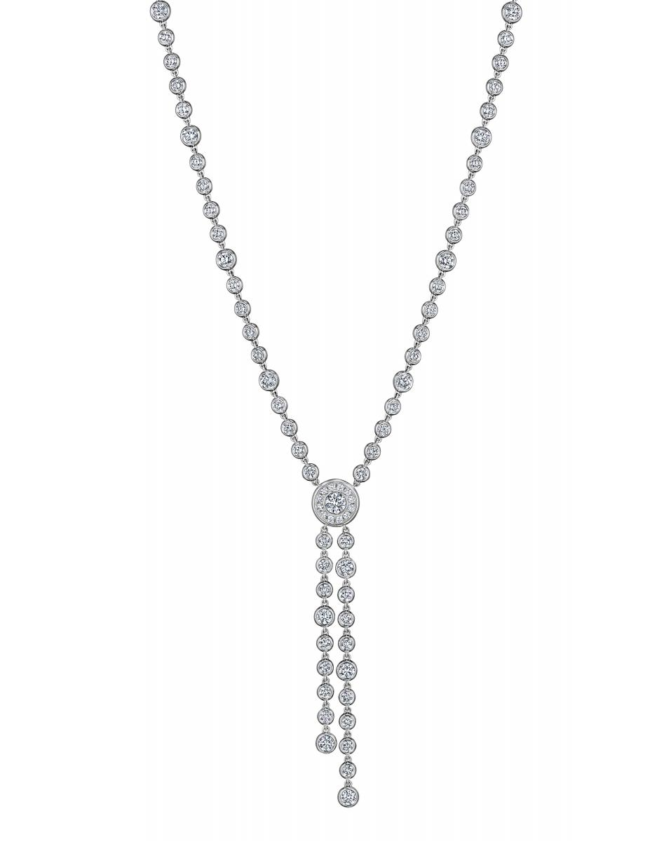 A. Link for Forevermark one-of-a-kind diamond bolo necklace