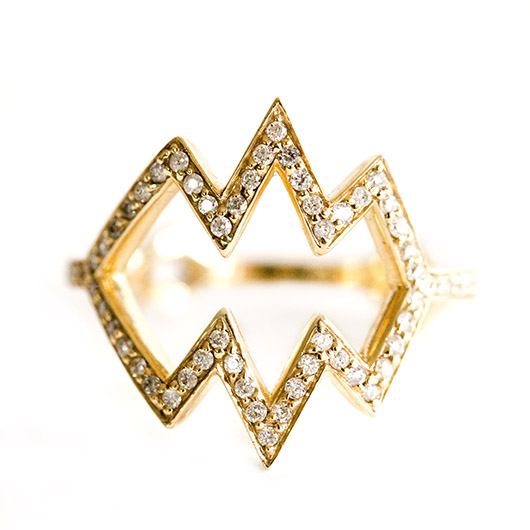 Romi ring from One Jewelry in 14k gold with diamonds