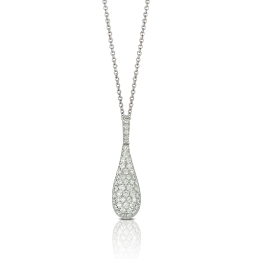Pendant necklace in 18k gold with diamonds from Doves by Doron Paloma's new Petite Doves jewelry collection