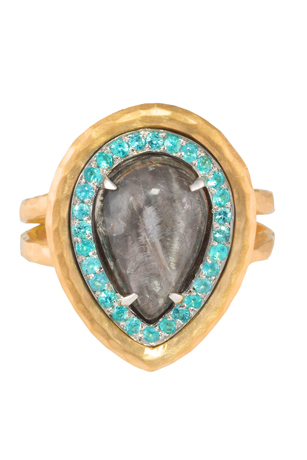 Pamela Froman opal and Paraiba ring