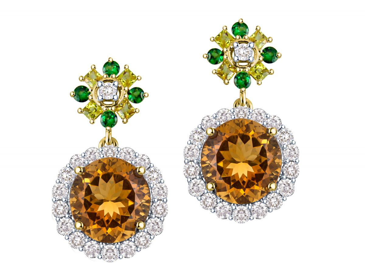 Arya Esha one-of-a-kind citrine earrings