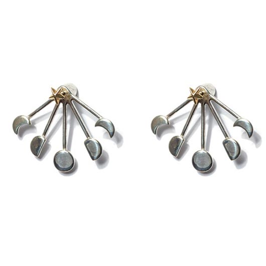 Stud earrings with jackets from Pamela Love