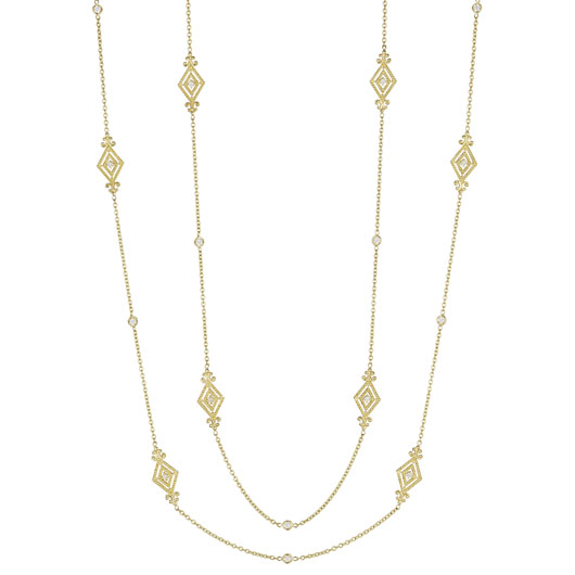 Penny Preville gold station necklace