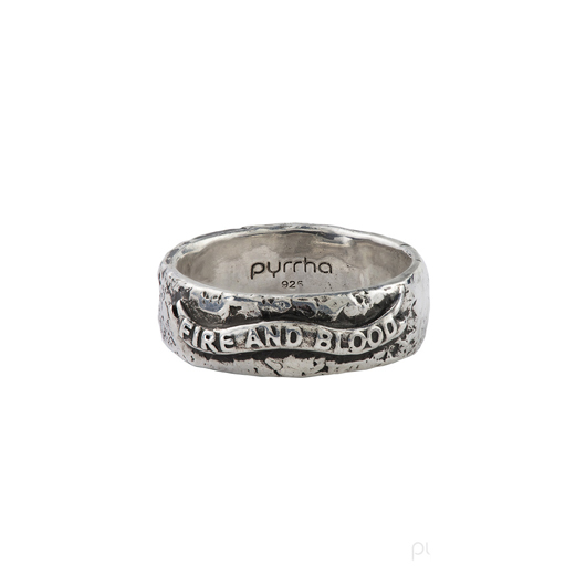 Game of Thrones ring in silver from Pyrrha