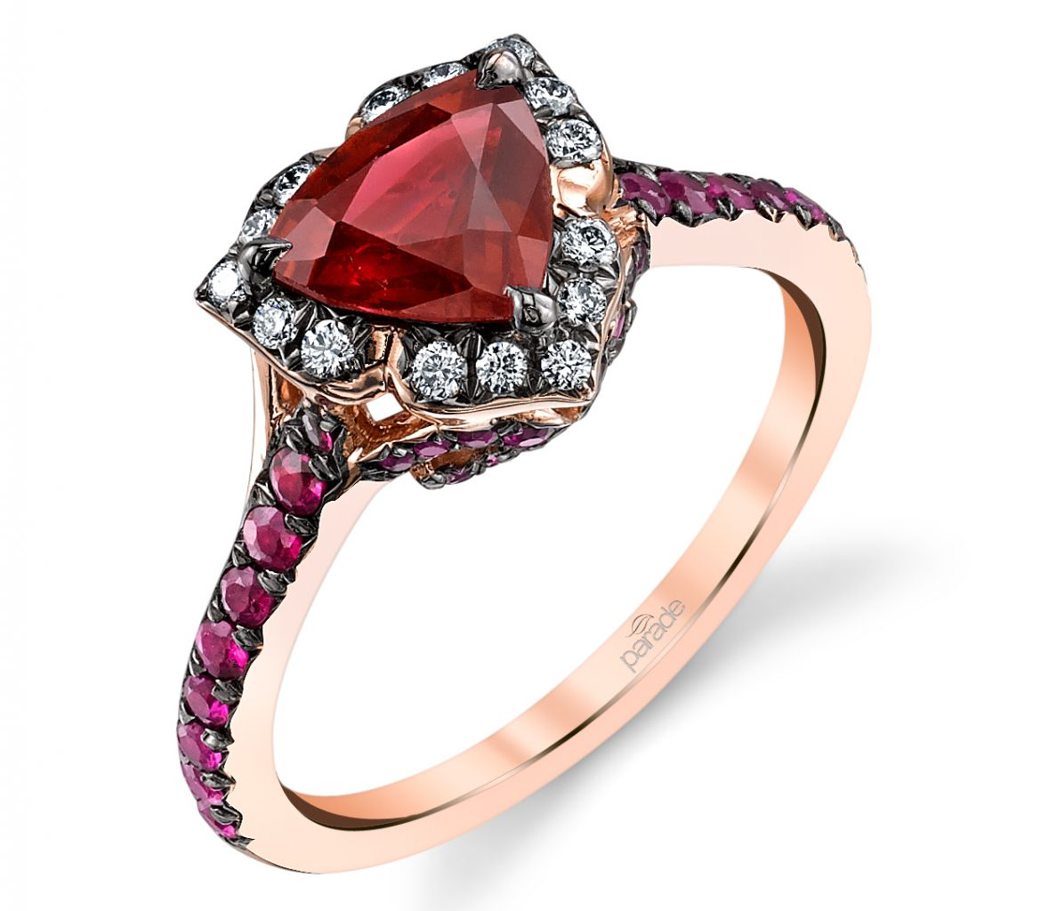 Parade Design trillion ruby and diamond ring